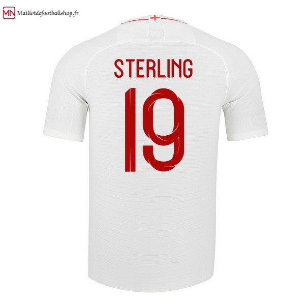 Maillot Football Angleterre Domicile Sterling 2018 Blanc
